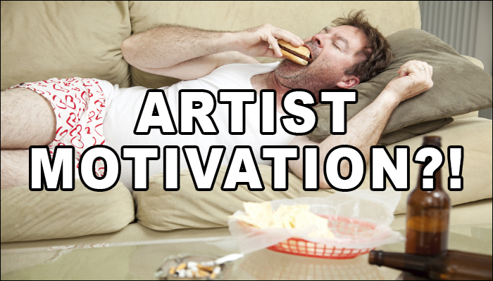 how to stay motivated as an artist
